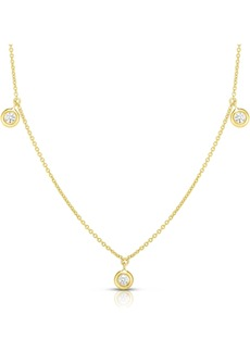 Roberto Coin 3-Station Diamond Necklace