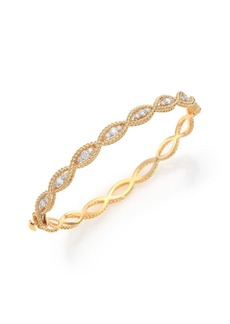Roberto Coin Barocco Diamond & 18K Yellow Gold Braided Bangle Bracelet