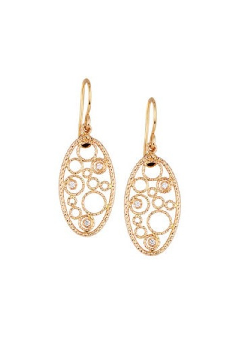 Roberto Coin Bollicine 18k Rose Gold Drop Earrings With Diamonds