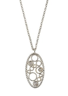 Roberto Coin Bollicine 18k White Gold Small Pendant Necklace w/ Diamonds