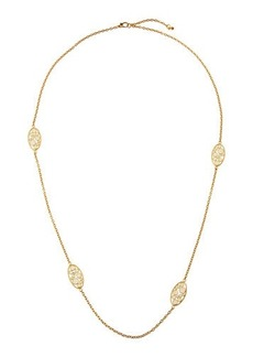 Roberto Coin Bollicine 18k Yellow Gold Long Enameled 2-Station Necklace