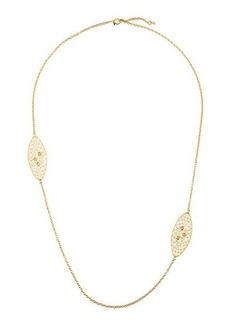 Roberto Coin Bollicine 18k Yellow Gold Long Enameled 2-Station Necklace w/ & Diamonds