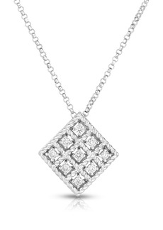 Roberto Coin Byzantine Barocco Diamond Pendant Necklace