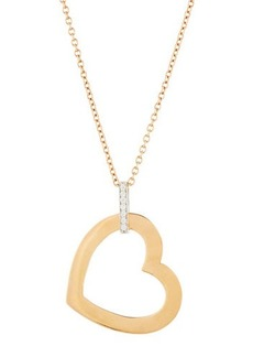 Roberto Coin Chic & Shine 18k Rose Gold Diamond Heart Pendant Necklace