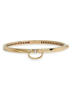 Roberto Coin Classica Bangle Bracelet with Diamond Accent