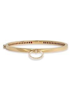 Roberto Coin Classica Bangle Bracelet with Diamonds