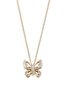 Roberto Coin Diamond Butterfly Pendant Necklace
