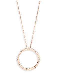 Roberto Coin Diamond Circle Pendant Necklace