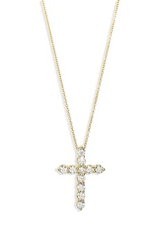 Roberto Coin Diamond Cross Pendant Necklace