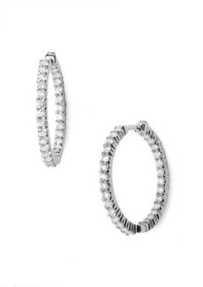 Roberto Coin Diamond Hoop Earrings