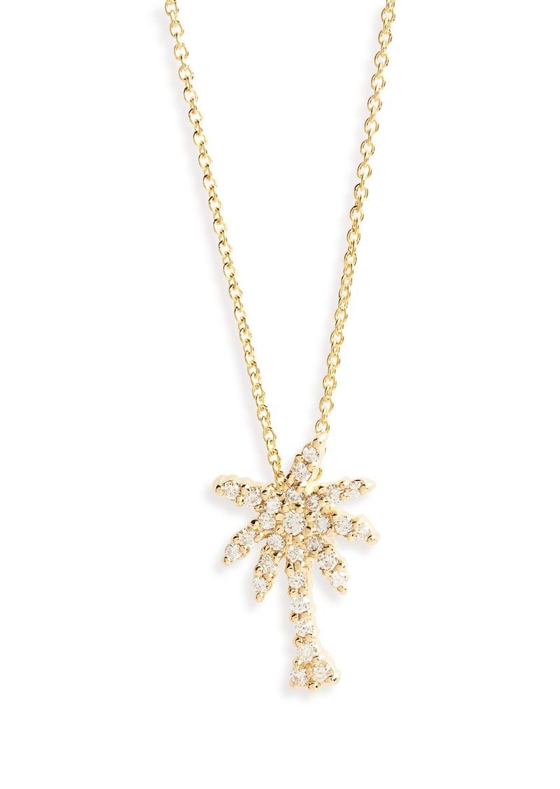1736a39590709 Diamond Palm Tree Necklace
