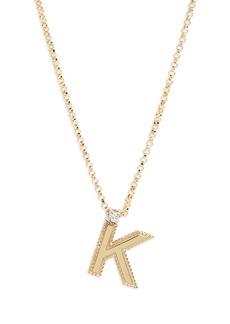 Roberto Coin Diamond Princess Letter Pendant Necklace