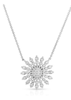 Roberto Coin Diamond Sunburst Pendant Necklace