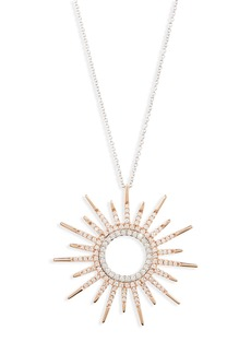 Roberto Coin Diamond Sunburst Pendant Necklace