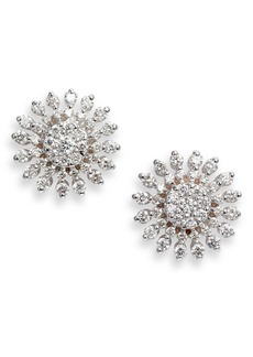 Roberto Coin Diamond Sunburst Stud Earrings