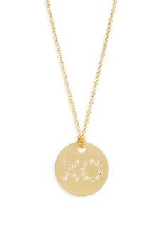 Roberto Coin Diamond XO Medallion Necklace