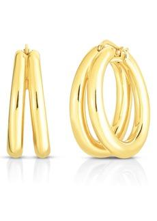 Roberto Coin Double Huggie Hoop Earrings