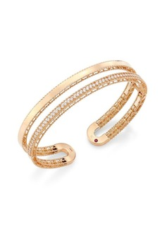 Roberto Coin Double Symphony Diamond and 18K Rose Gold Bangle