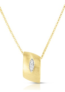 Roberto Coin Golden Gate Pavé Diamond Pendant Necklace