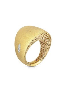 Roberto Coin Golden Gate Pavé Diamond Ring