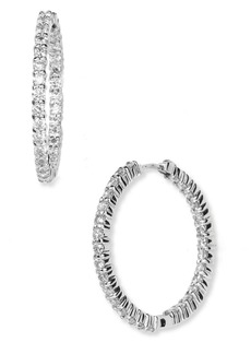 Roberto Coin Inside Out Diamond Hoop Earrings
