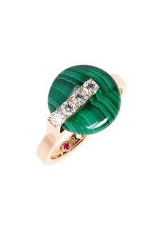 Roberto Coin Jade Diamond Ring