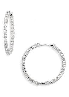Roberto Coin Large Diamond Hinged Hoop Earrings