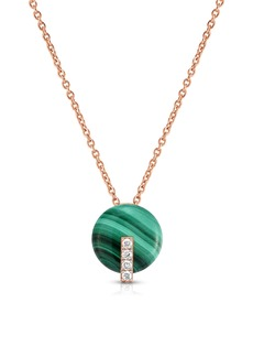 Roberto Coin Malachite Diamond Pendant Necklace