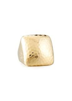 Roberto Coin Martellato Square 18k Gold Ring