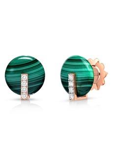 Roberto Coin Mini Jade & Diamond Earrings