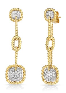 Roberto Coin New Barocco Diamond Drop Earrings