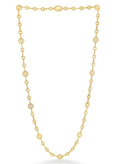 Roberto Coin New Barocco Round Diamond Station Necklace