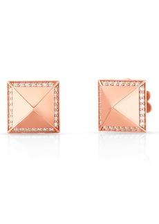 Roberto Coin Obelisco Diamond Stud Earrings