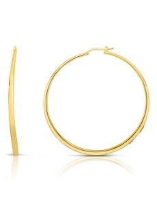 Roberto Coin Oro Classic Knife Edge Hoop Earrings