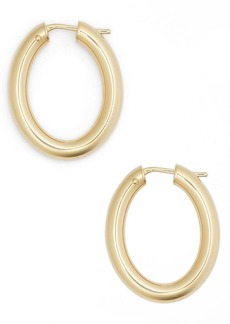 Roberto Coin Oval Hoop Earrings