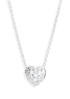 Roberto Coin Pavé Heart Pendant Necklace