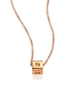 Roberto Coin Pois Moi 18K Rose Gold Mini Cube Pendant Necklace