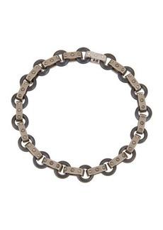 Roberto Coin Pois Moi 18k White Gold & Titanium O-Ring Bracelet