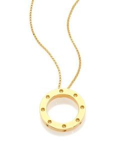 Roberto Coin Pois Moi 18K Yellow Gold Pendant Necklace