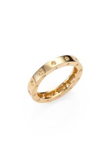 Roberto Coin Pois Moi 18K Yellow Gold Single-Row Band Ring