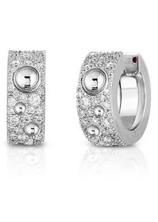 Roberto Coin Pois Moi Luna Pavé Diamond Huggie Earrings