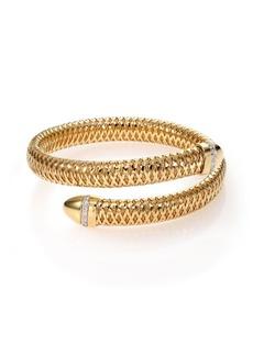 Roberto Coin Primavera Diamond & 18K Yellow Gold Wrap Bracelet