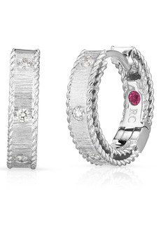 Roberto Coin Princess Diamond Hoop Earrings