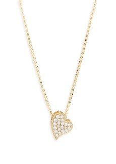 Roberto Coin Princess Diamond Pavé Heart Necklace