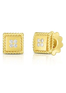 Roberto Coin Princess Square Diamond Earrings