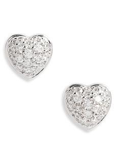 Roberto Coin Puffed Heart Diamond Earrings