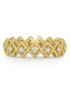 Roberto Coin Roman Barocco Diamond Band Ring
