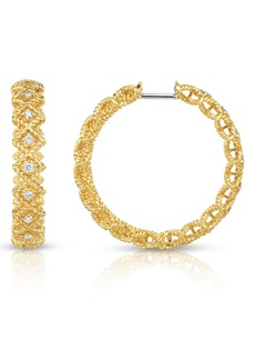 Roberto Coin Roman Barocco Diamond Hoop Earrings