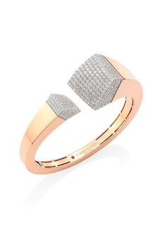 Roberto Coin Sauvage Privé Pave Diamond & 18K Rose Gold Bangle