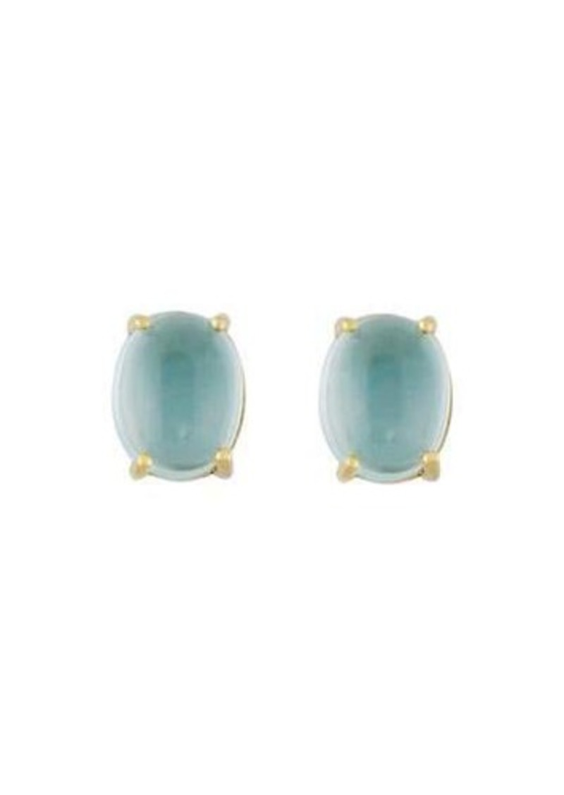 stud earrings gold cut image topaz blue gemstone emerald jewellery white